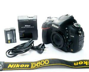 Nikon D600 FX 24.3MP Digital SLR Full Frame Camera Body Only Excellent condition