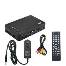 Mini Full 1080P HD Multi Media Player TV BOX 3 Outputs HDMI/VGA/AV USB & SD Card