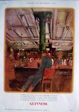 1967 GUINNESS Beer Advert 'CAFE ROYAL, Edinburgh' - John Ward Print AD (GE.4424)