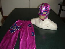 REY MYSTERIO PINK SUIT 6-10 year COSTUME FANCY DRESS OUTFIT