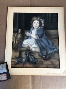 "Vintage Pastel Art Painting - Copy Of ""Winter"" By Louise Cox"