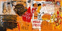 """Jean Michel Basquiat Print on Canvas Abstract art decor sale Pollo Frito 24x48"""""""