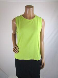 Jones New York Sport Sleeveless Top Shell Size L Cotton Blend Green Apple Color