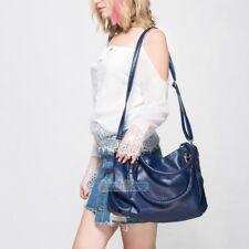 Fashion Women Handbag Shoulder Bag Tote Purse Leather Messenger Hobo Bag BLUE