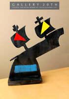 """THE FLYING DUTCHMAN""  FINE MID CENTURY MODERN ART! 1955! POST-CUBIST WORK!"