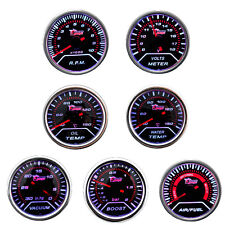 "2"" 52mm Car Universal Boost Temp Volt Bar Gauge Meter Smoke Tint Len LED"