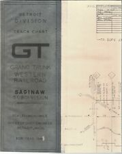 Grand Trunk Western Railroad Track Chart Saginaw Subdivision FREE SHIPPING