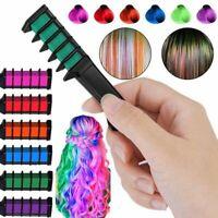 6pcs/Set Temporary Hair Chalk Hair Color Comb Dye Salon Fans Kits Party W6O2