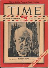Time Magazine Pacific Pony Edition April 17, 1944. Archbishop of York. Military.