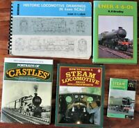 5 Books incl Locomotive Scale Drawings 4mm scale & How to Drive a Steam Loco