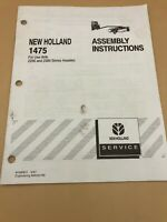 NEW HOLLAND 1475 PIVOT TONGUE FRAME ORIGINAL FACTORY Assembly Instructions Book