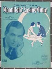 1931 (There Ought To Be A) Moonlight Saving Time Sheet Music by Kahal & Richman