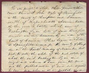Portion of Manuscript Document, John Wyles, Brimfield, MA, 1870's