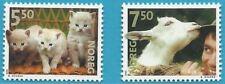 Norwegen aus 2001 ** postfrisch MiNr.1409-1410 - Haustiere: Katze, Ziege!