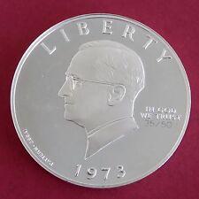 Harry Truman S 1973 ARGENTO PROOF Pattern Plain Edge interprétation DOLLAR-CONIO 50