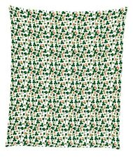 "Irish Flags & Clovers Mircofleece Throw Blanket 50""x60"""