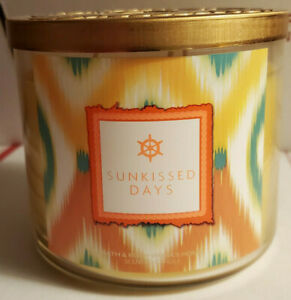 1 Bath & Body Works SUNKISSED DAYS 3-Wick 14.5 oz Large Candle 2015 Pour Date