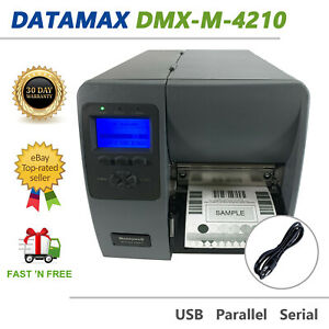 Datamax Mark II DMX-M-4210 Direct Thermal Label Printer Peeler Rewinder USB