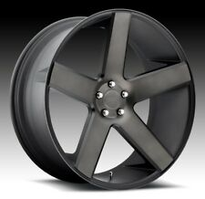 22x9.5 Dub Baller S116 5x150 ET32 Black Machine DDT Wheel (1)