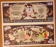 Warner Bros. Tasmanian Devil Million Dollar Bill Taz