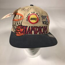VTG Houston Rockets Logo Athletic Snapback Hat 95 Champions SIGNED RUDY T [CT03]