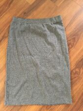 Divided by H&M Gray Knee Length Jersey Bodycon Pull On Skirt Sz L