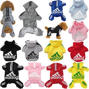 Adidog Dog Hoodies 4 Legs Jumpsuit Puppy Coat Winter Sweatshirt Warm Sports
