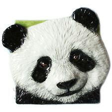 Panda Bear Tile Ceramic handmade bas-relief by Sondra Alexander Art