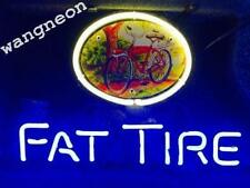 """14""""X10"""" New FAT TIRE BICYCLE BIKE Neon Sign Belgium Beer Bar Light FREE SHIPPING"""