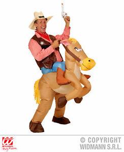 Aufblasbares Pferd Pferdekostüm Cowboy M/L - Faschingskostüm Mottoparty Western