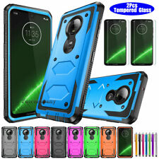 For Motorola Moto G7/ G7 Plus Case Shockproof Armor Cover+Glass Screen Protector