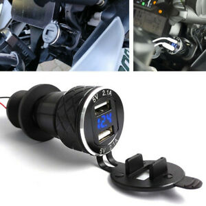 For BMW R1200GS Triumph Tiger Hella DIN to 4.2A Dual/2 USB Charger Motorcycle UK