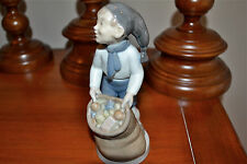 "Royal Copenhagen Figurine #4534 ""December, Boy With Sack"" Christmas Collectible"