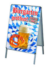2x PVC-Poster//PlakatDruck DIN A1 wetterfest für Kundenstopper Corona Biergarten2