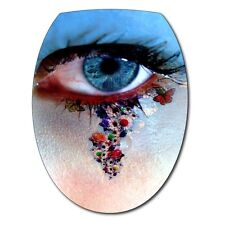 Sticker deco WC Oeil 073