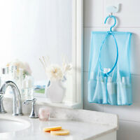 Bathroom Storage Clothespin Mesh Bag Hooks Hanging Bag Organizer Shower Bath New
