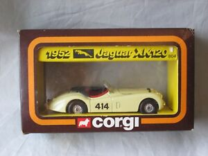 VINTAGE CORGI 1952 JAGUAR XK120 RALLY CAR #804