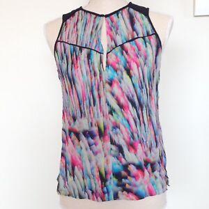 Husk Silk Multicoloured Rainbow Vest Tank Singlet Sleeveless Top Size 1
