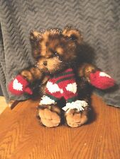 Christmas Winter Bear Gloves Scarf Hearts 2001