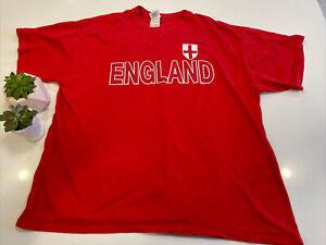 Vintage 1999 Country Of England Soccer Futbol T-Shirt Mens XL Red United Kingdom