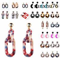 Women Acrylic Resin Earring Drop Dangle Studs Beauty Boho Pendant Jewelry