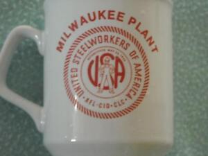 American Can 1985 Milwaukee Steelworkers AFL CIO CLC  35th Anniversary Cup Mug