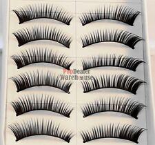 20 Pairs Handmade Natural False Eyelashes Eye Lashes Jet Black + 1ml Glue Sample