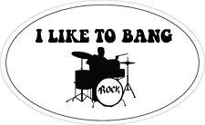 Me gusta Bang-Batería / Banda / Música / Novedad pegatina de vinilo - 20 Cm X 12 Cm