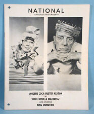 1932 Buster Keaton Live Stage Program + 6 Original Movie Studio Stills 1966