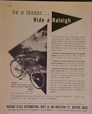 1952 Raleigh Cycle Britains Roadster~Archer Bicycles Ad