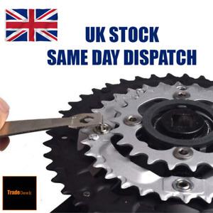 Bike Chainring Nut Wrench Peg Bolt Spanner Crankset Chain Ring Removal Tool UK