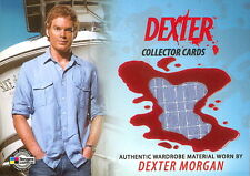 DEXTER SEASONS 1 & 2 2009 BREYGENT COSTUME CARD DCC1 SHIRT SDCC COMIC CON