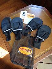 Muttluks Mutt Luks Fleece Lined Dog Boots, XXL Black New