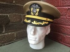 WW2 US Navy officers Captains visor cap,  size 60